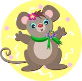 Mouse with Green Scarf Stock Image