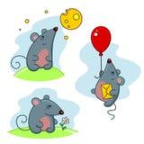 Mouse grigio Fotografia Stock Libera da Diritti