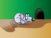 Mouse grigio astuto illustrazione di stock