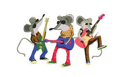 Mouse guitar band music Stock Photo