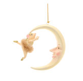 Mouse and half moon. Christmas decoration Royalty Free Stock Photography