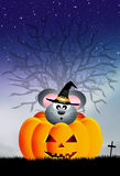 Mouse on Halloween Royalty Free Stock Images