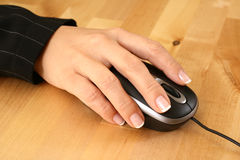 Mouse and hand Stock Photo