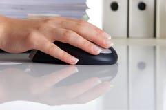 Mouse hand Stock Photos