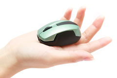 Mouse On Hand Royalty Free Stock Images