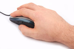 Mouse and hand Stock Photos