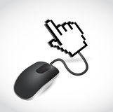 Mouse and hand cursor. illustration design Stock Images