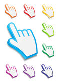 Mouse hand cursor vector illustration. This is file of EPS10 format Royalty Free Stock Photography
