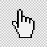 Mouse hand cursor vector illustration. Pixel look Royalty Free Stock Photo