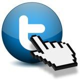 Mouse Hand Press Twitter stock illustration