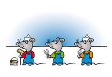 Mouse handyman cartoon Royalty Free Stock Images