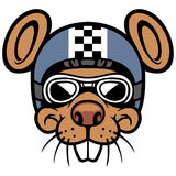Mouse head rider mascot Royalty Free Stock Photography