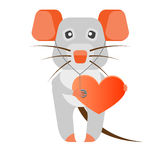 Mouse with heart Royalty Free Stock Photography