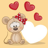 Mouse with hearts Stock Image