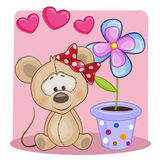 Mouse with hearts Royalty Free Stock Images