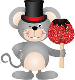 Mouse holding candied apple Stock Image
