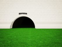Mouse hole Royalty Free Stock Photography