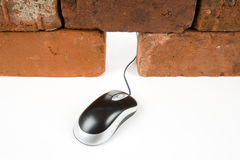 Mouse Hole and Computer Mouse Royalty Free Stock Photos