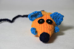 The mouse. Home made. Wool Stock Photos