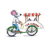 Mouse - icecream Stock Images