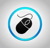 Mouse icon round blue push button. Mouse icon isolated on round blue push button stock illustration