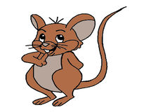 Mouse illustration Stock Image