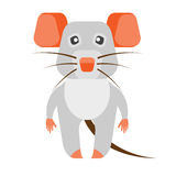 Mouse. Illustration of a mouse on a white background Stock Photography