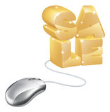 Mouse internet sale concept Stock Photography