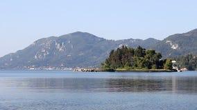 Mouse island Pontikonisi Corfu stock video footage