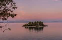 Mouse Island Pontikonisi at Corfu Greece. royalty free stock photo