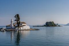 Mouse Island Pontikonisi at Corfu Greece. Stock Image