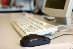 Mouse & Keyboard. In a working place Stock Image