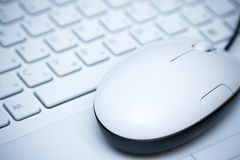 Mouse on  the keyboard Stock Images