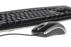 Mouse and keyboard. Computer mouse and keyboard isolated on white Stock Images