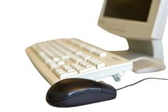 Mouse & Keyboard. Isolated Mouse & Keyboard Stock Photos