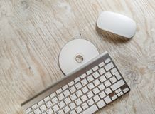Mouse, keyboard and CD Stock Image