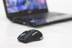 Mouse and laptop Royalty Free Stock Image