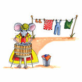 Mouse - laundry Stock Image