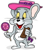 Mouse With Lollipop Stock Photography