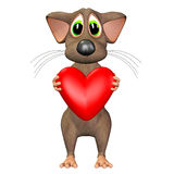Mouse in Love Royalty Free Stock Photography