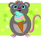 Mouse Love Sweets Stock Image