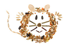 Mouse made of feed Stock Photos