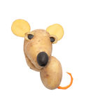 Mouse made of potatoes and olives stock image