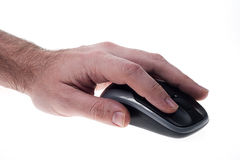 Mouse with Male hand Stock Photos