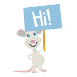 Mouse mascot. With message board vector Stock Image