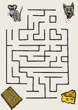 Mouse maze Stock Photo