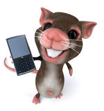 Mouse with a mobile phone Royalty Free Stock Photography