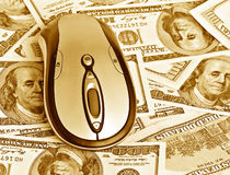 Mouse on the money Royalty Free Stock Photography