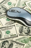 Mouse on the money Stock Photography