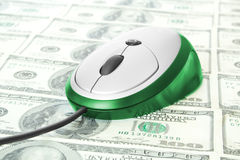 Mouse with money Stock Photos